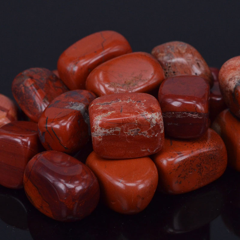 Natural Red Jasper Crystal Stones Points Beads Tumbled