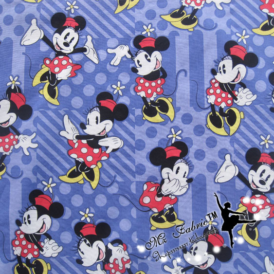 14250cm Mickey Minnie Plain Fabric Baby Birthday Party Wallpapers Diy Handmade Craft Bedding Home Cloth Purse Quilt In From Garden On