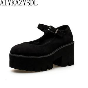 31396b1c9561 AIYKAZYSDL Platform Wedge High Heels Cosplay Shoes