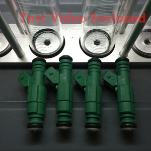 4pcs test video enclosed universal top feed 440cc performance fuel injector Green Giant 0280155968 for vw for audi A4 TT(China)
