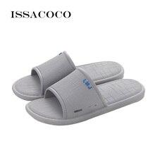 ISSACOCO 2018 Baru Sepatu Sandal Musim Panas Sepatu Pria Sepatu Pria Kamar Mandi Sepatu Sandal Pantuflas Pria Pantuflas Terlik Chinelo