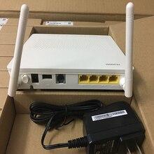 Modem de hua wei hg8546m gpon onu, 4fe + usb + wifi, com 2 antenas terminal interface sem fio firmware inglês, plugues da ue