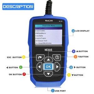 Image 4 - NEXAS NL102 сканер для тяжелых грузовиков OBDII / EOBD / HDOBD сканер для грузовиков и автомобилей диагностический инструмент для передачи тормозов двигателя