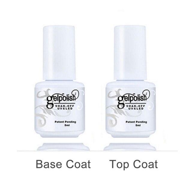 Top And Base Nail Primer Coat 5ml Set Of Gel Polish For