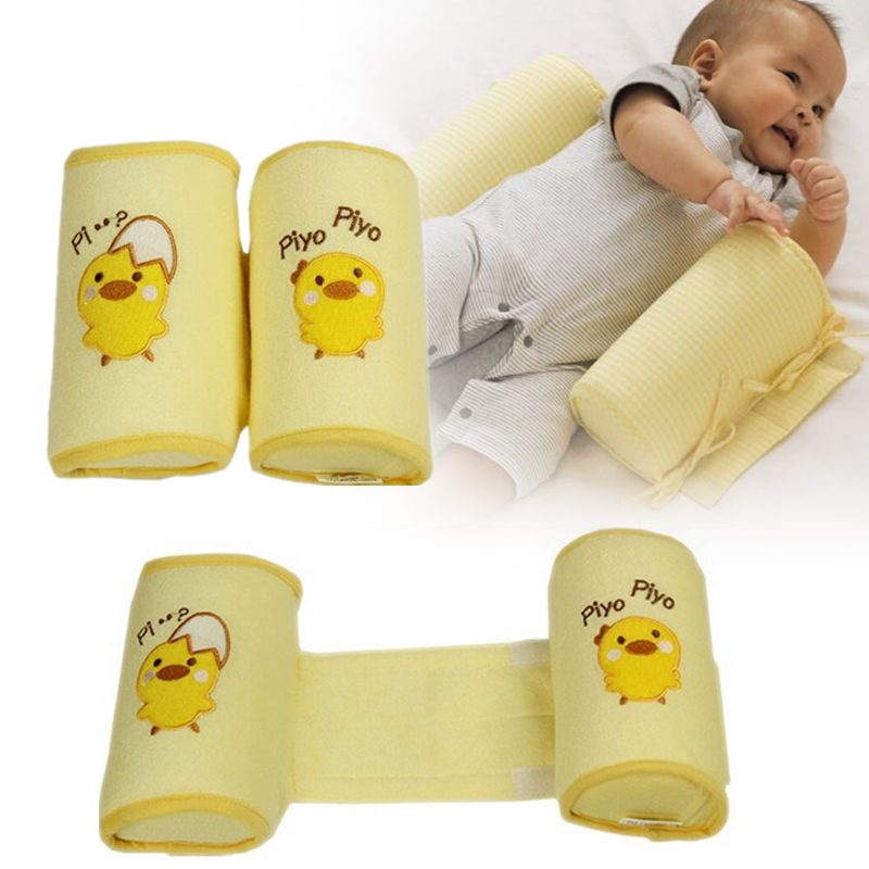 Comfortable Cotton Anti Roll Pillow Lovely Duck Baby Toddler Safe Cartoon Sleep Head Positioner Anti-rollover Baby Cushion XV2