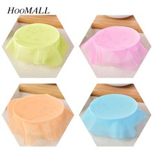Hoomall 1PC Random Candy Color Silicone Wrap Paper Refrigerator Microwave Oven Dust Sealed Bowl Cover Heating Preservation(China)