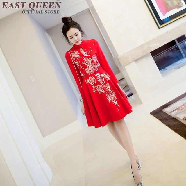 Cheongsam rosso cinese di donne delle orientale abiti a cinese stile rUgw6rqA
