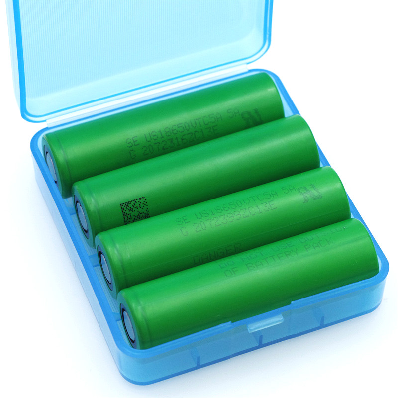 4PCS VariCore VTC5A 2600mAh 18650 Lithium Battery 30A Discharge for Sony US18650VTC5A Electronic Cigarette ues + Storage box
