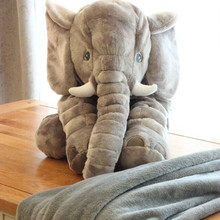 Nici cute elephant pillow blankets, dual-use blanket plush dolls, children's bed dolls, blankets air conditioning, lumbar pillow
