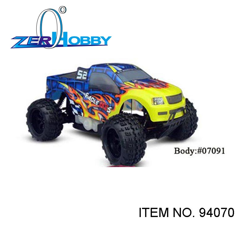 RC CAR TOYS HSP RACING CAR 1/5 SCALE GAS POWERED UNIVERSSAL 4WD OFF ROAD MONSTER TRUCK (ITEM NO. 94070, 94070PRO) hsp racing rc car troian pro 94185top 1 16 scale 4wd off road electric powered brushless buggy car ready to run