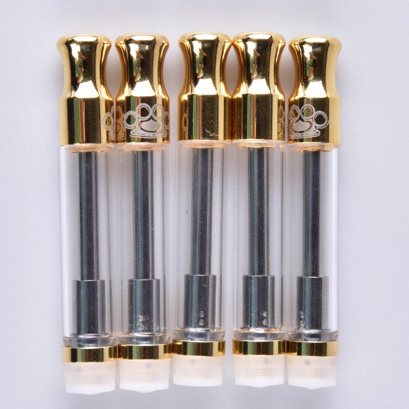 3pcs Ceramic Coil BK Vape Cartridge E Cigarette Gold Pyrex Glass CBD Thick Atomizer Vape Tank For 510 Thread Battery Mod Kit