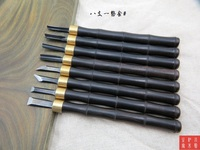 8PCS Top quality Wood Carving Hand Chisel Woodworking Tool Set Japan SK5 Ebony Handle Woodworkers Gouges
