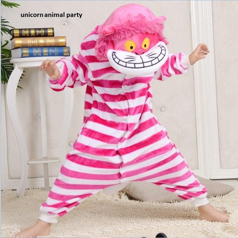 Kigurumi Onesies Cosplay Children Christmas Sleepsuit Cheshire Cat Pajamas Animal Rompers Womens Jumpsuit Cartoon Costumes