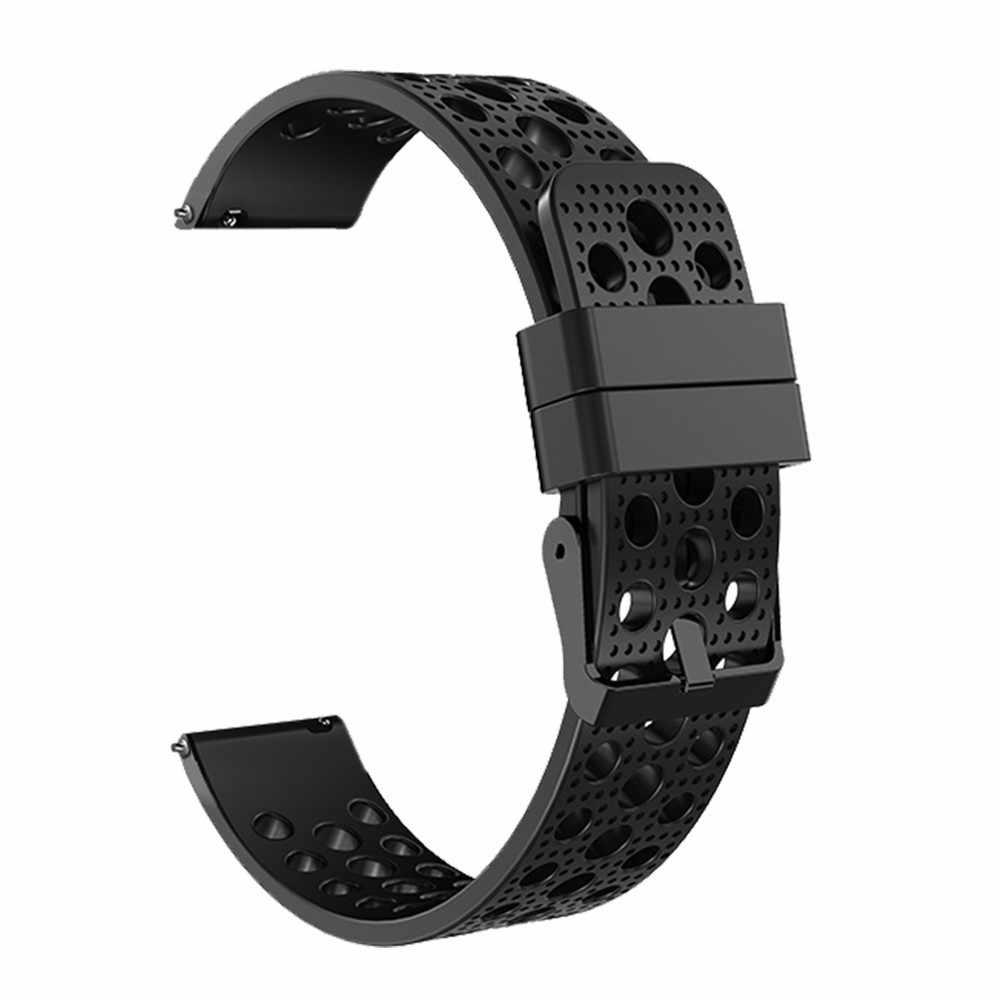 جديد سيليكون سوار للساعة حزام (استيك) ساعة لسامسونج والعتاد S3 الحدودي الكلاسيكية 22 مللي متر لبس الأجهزة smartwatch سوار لياقة بدنية