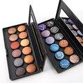 Nova Chegada 1 pcs Metálico Cozido Paleta da sombra Profissional 12 Cores de Maquiagem Sombra maquiagem Cosméticos Set