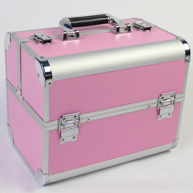 Ручная многослойная косметическая коробка 32 см органайзер для макияжа портативная Косметичка женская Хранение Косметики коробка для хран
