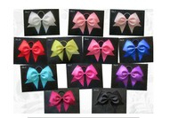Free Shipping12pcs Style 7 Cheer Leader Bow Hair Accessorie Women Tiara Satin Ribbon Band Rope Scrunchie