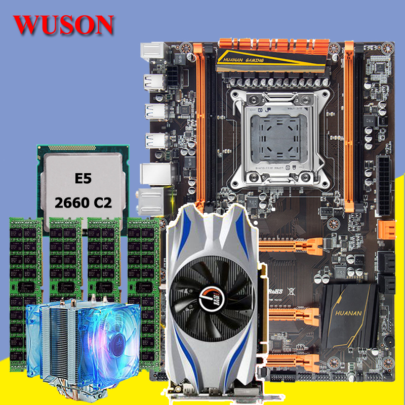 New arrival!!!HUANAN deluxe X79 motherboard CPU RAM video card CPU Xeon E5 2660 C2 RAM 16G(4*4G) DDR3 RECC <font><b>GTX650Ti</b></font> Video card image