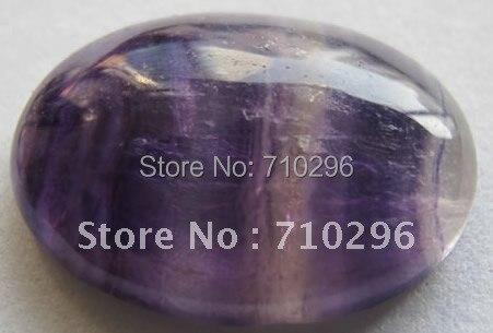 Натуральный фиолетовый флюорит 20x30 мм овальные полу кольцо с камнем свободные кабошон