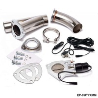 Electric Exhaust DUMPS Cutout Stainless Steel Cutouts Piping and Switch For EP CUTYXMM AF