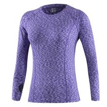 Female Quick Dry Long Sleeve Tee Hoody Gym Fitness Women Compress Workout Clothing Women's Sport T Shirt Running Yoga Top 5019