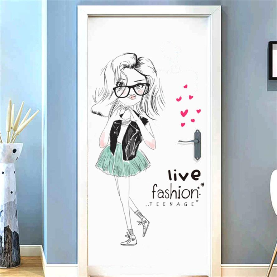 Cute Diy Home Decor: Home Decor Cute DIY Lovely Girl Art Wall Stickers For Kids