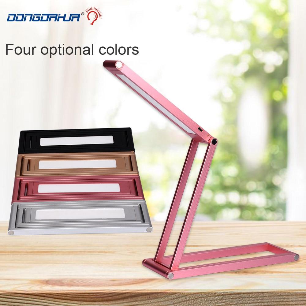 Dimmable LED Desk Lamp Led Brightness Lipat 5V Isi Ulang Baterai Power Switch Sentuh LED Table Lamp