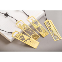 1 Pcs/lot Creative retro Chinese style Stainless Steel Bookmark  Multifunctional Gift Hollow Bookmarks School Supplies