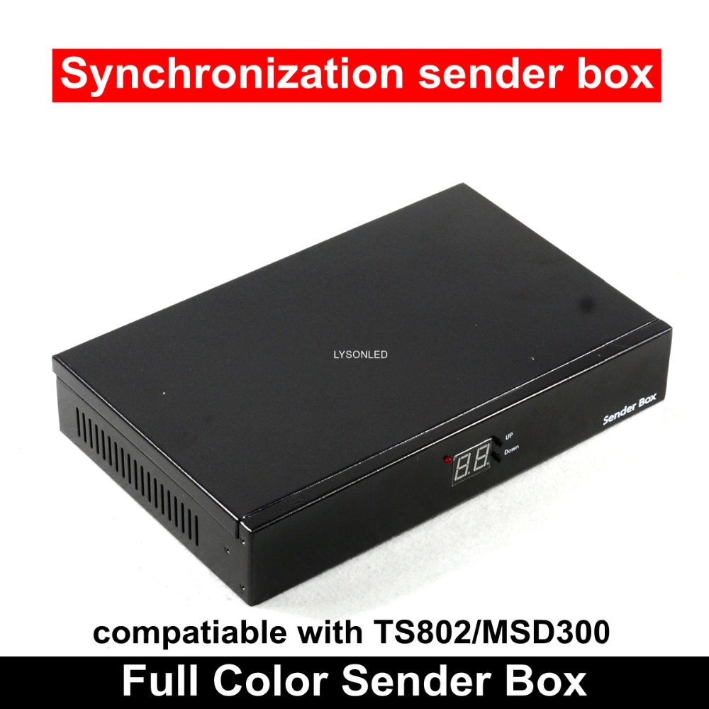 Empty P5 P10 LED Video Display Sender Box With Meanwell Power Supply Installed,can Install TS802/MSD300 Sending Card