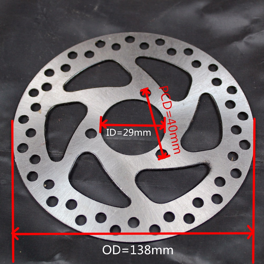 Electric Scooter Brake Disc 138mm(OD)*29mm(ID) Electric Bike Disc Brake Plate with 3 Mounting Holes