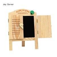 Joy Corner Drop Shipping Wooden Black Board Decoration Desk Korean Style Window Shape Memo Bord Multifunctionele