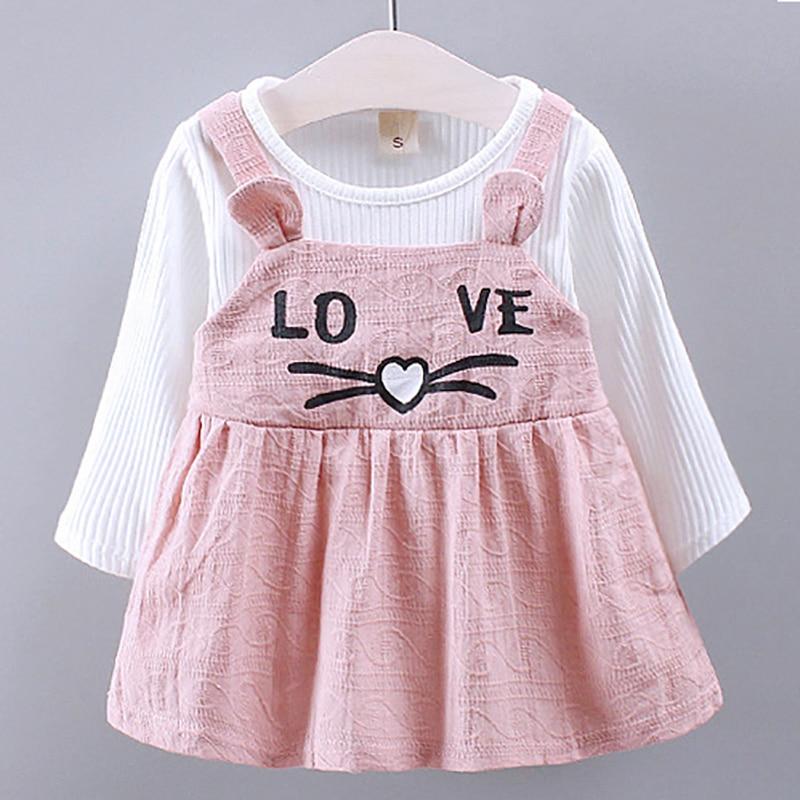 Baby Clothing Girl Dress Autumn Winter Animal Pattern Baby Girl Clothes Newborn Bebes 1 Year Birthday Princess Dress For Girls