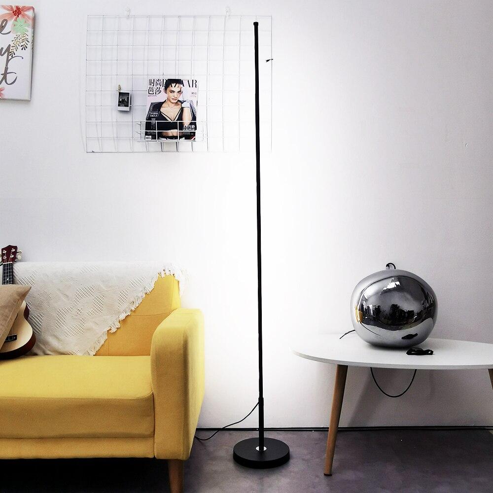 Nordic Minimalist LED Floor Lamps Standing Lamps Living Room Led Black/White Aluminum Luminaria Standing Lamps Lamparas Decorate