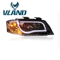 VLAND Factory Headlamp For A6 1997 2004 LED Bar Headlight DRL H7 Xenon Lamp Plug And Play Design + Waterproof LED Tail Light