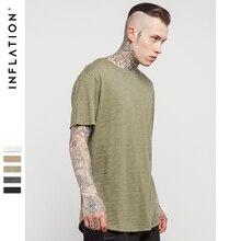 Inflation 2017 sommer neuen stil der männer solide erweiterte längliche plain t shirt bambus baumwolle
