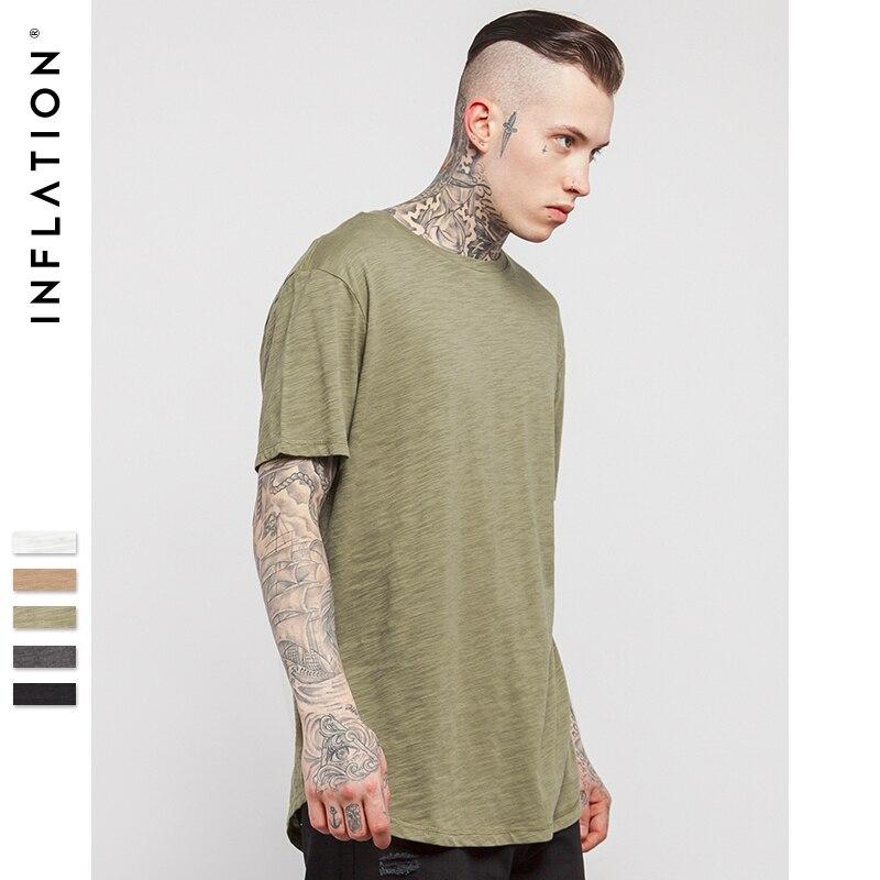 INFLĀCIJA Vīriešu cietā pagarinātā gluda t-krekls Bambusa - Vīriešu apģērbi