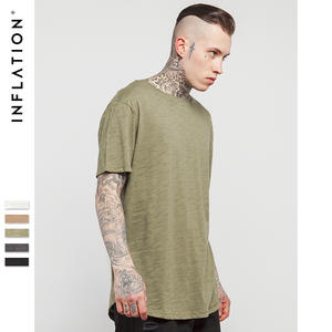 INFLATION Summer Style Men's Solid Plain T Shirt Cotton