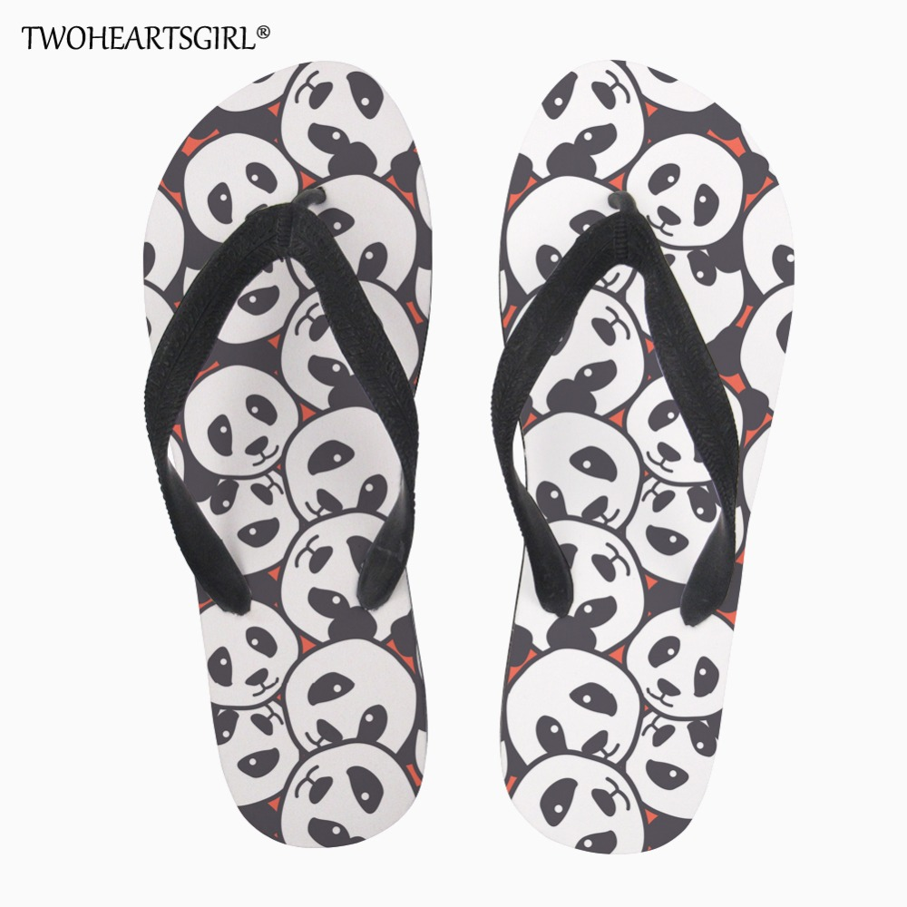 Kreativ Twoheartsgirl Neue Männer Schöne Panda Druck Flip-flops Casual Weiche Straße Wanderschuhe Bequeme Sommer Mode Männer Flip-flops Halten Sie Die Ganze Zeit Fit Schuhe Herrenschuhe