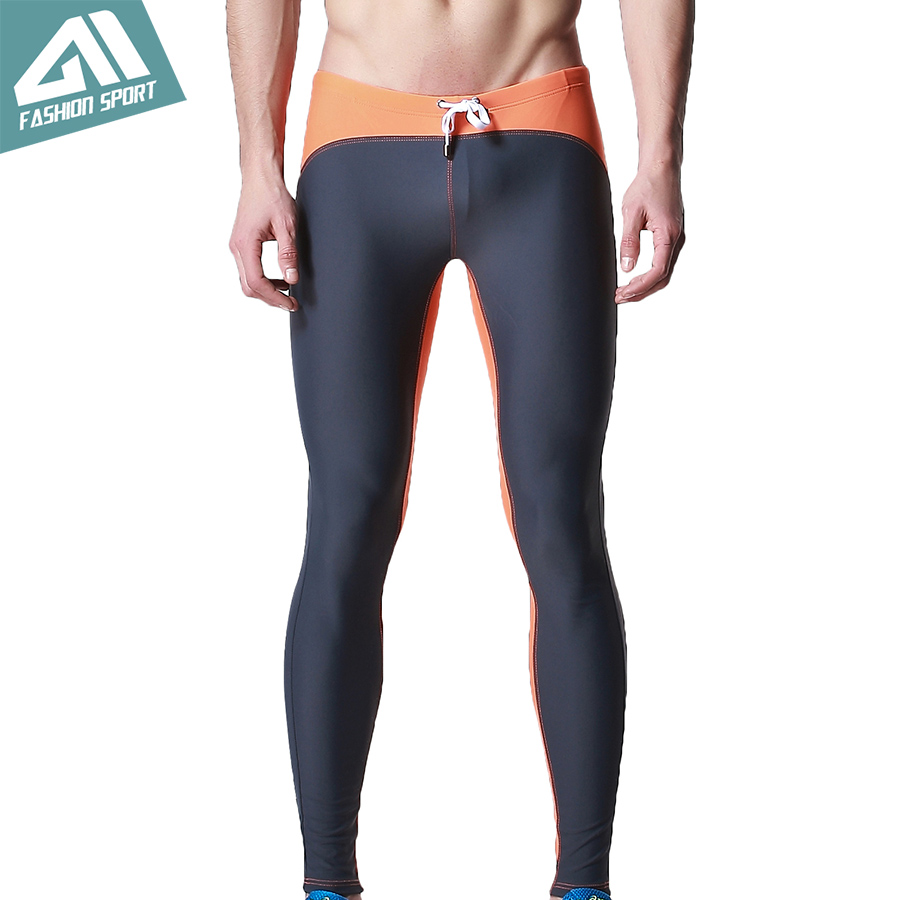 DESMIIT Men's Long Swimwear Triathlon Tights Fitness Swimming Pants Gym Running Biking Exercise Yogo Workout Pants for Men DT25