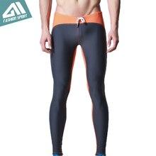 DESMIIT Men s Long Swimwear Triathlon Tights Fitness Swimming Pants Gym Running Biking Exercise Yogo Workout