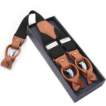 Man's Suspenders Fashion Braces Genuine Leather Suspenders Suspensorio Trousers Strap Father/Husband's Gift 3.5*120cm - DISCOUNT ITEM  29% OFF All Category