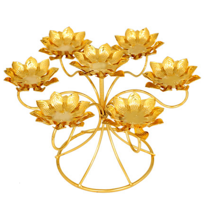 High Grade Alloy Candle Stand Double Piece Lotus Lamp Holders Candlestick Wedding Dinner Decoration Creative Light Tools LFB485