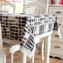 Hot Sale Black Coffee Triangle Tablecloth Beautiful Party Table Cloth Linen Tablecloths Lace Edge Cover Cloth Sofa Cover Cloth