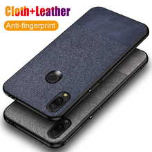 Leather Cloth texture Phone Case For xiaomi redmi note 7 6 pro 5 cases Luxury Shockproof back cover for Redmi case