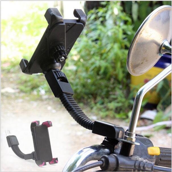 Motorcykel telefonhållare bakre spegel för Moto mobil support för - Reservdelar och tillbehör för mobiltelefoner - Foto 6