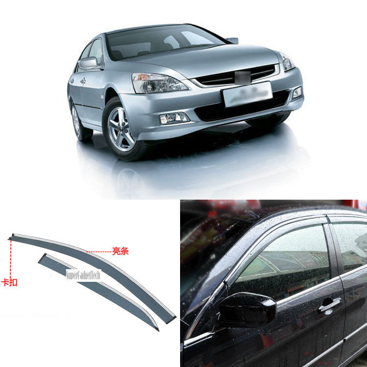 Jinke 4pcs Blade Side Windows Deflectors Door Sun Visor Shield For Honda Accord 2004-2007 jinke 4pcs blade side windows deflectors door sun visor shield for peugeot 408 2010 2013