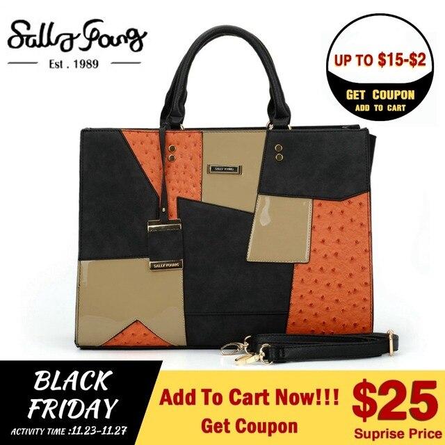 29bb11606db0 Fashion Handbags Saffiano Shoulder Bags Patchwork Tote Business
