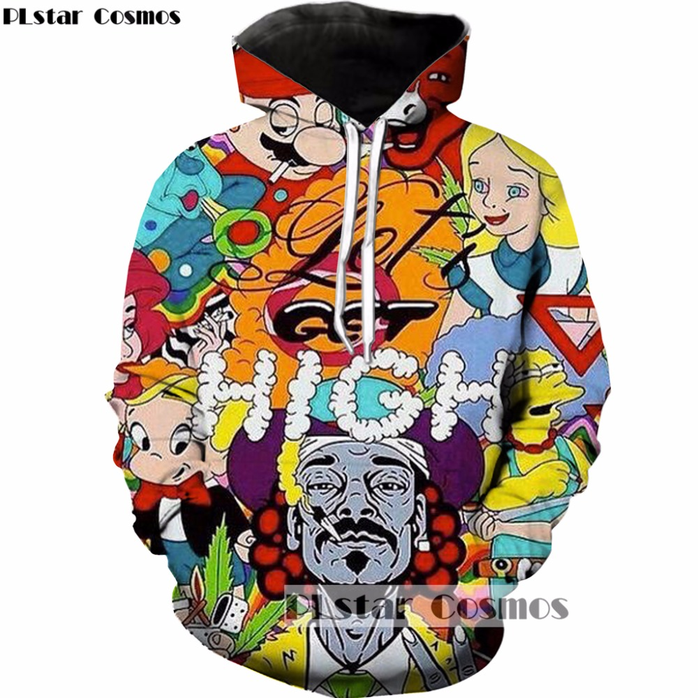 PLstar Cosmos Free shipping 2017 New Fashion Harajuku Hoodies Classic cartoon Super Mario Print 3D Hooded Tracksuits R-1265 ...