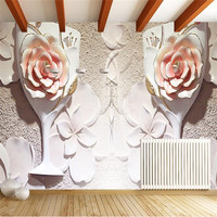 Custom 3d photo wallpaper Blossoming wall paper modern minimalist sofa stereo space wall wallpaper for living room painting