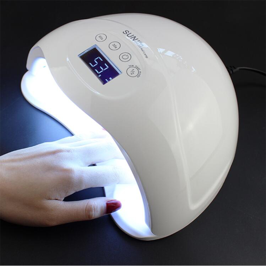 SUN5 Plus 48W UV LED Lamp Nail Dryer LED Dual Hands Nail Lamp Curing For UV Gel Nail Polish With LCD Timer Display Sensor